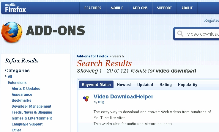 how to download videos in firefox